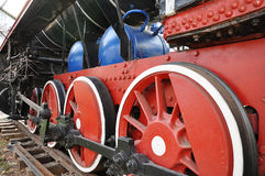 Elements of the steam locomotive Royalty Free Stock Photos