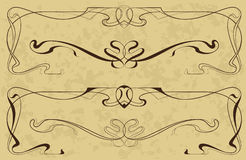Elements in style art-nouveau Royalty Free Stock Photo