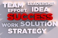 Elements of success 3D Royalty Free Stock Photo