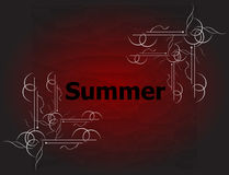 Elements for Summer calligraphic designs. Vintage ornaments Royalty Free Stock Photos