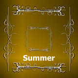 Elements for Summer calligraphic designs. Vintage ornaments. All for Summer holidays Royalty Free Stock Photos