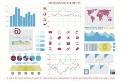 Elements ten. Infographic elements, web technology icons. vector timeline option graph, reminder calendar sign. pie chart info graphic icon. financial statistic Royalty Free Stock Photo