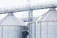 Elements and texture from a cereal silo Royalty Free Stock Photo