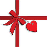 Elements to Valentines Day, heart. Ribbon Royalty Free Stock Photos