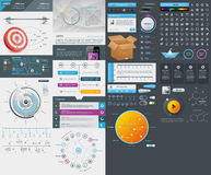 Elements of User Interface for Web Design Stock Photo