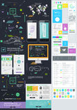 Elements of User Interface for Web Design Stock Image