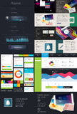 Elements of User Interface for Web Design Royalty Free Stock Photo