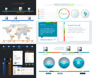 Elements of User Interface for Web Design Royalty Free Stock Photography
