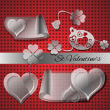 Elements for Valentines day Royalty Free Stock Photography