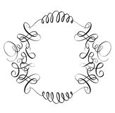 Elements of vintage flourish set decorative whorls for design. Calligraphy Vector illustration EPS10.  stock illustration