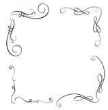 Elements of vintage flourish set decorative whorls for design. Calligraphy Vector illustration EPS10.  vector illustration