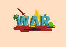 Elements of War. Military illustration Stock Photography