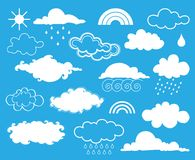 Elements of weather. Vector set Royalty Free Stock Photography