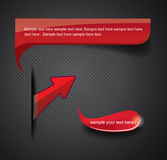 Elements for web design. Red elements for web design Stock Photography