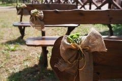Elements of the wedding decor Stock Image