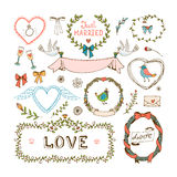 Elements for wedding invitations Royalty Free Stock Images
