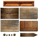 Elements of wood boards Stock Photo