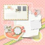 elementscrapbook Royaltyfri Foto