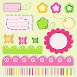 elementscrapbook Royaltyfria Bilder