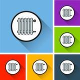 Elementsymboler med lång skugga Arkivfoto