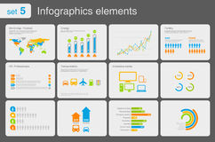 elementsymbolsinfographics Arkivfoton