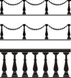 elementu architektoniczny balustradowy ogrodzenie Obrazy Stock