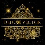 elementu dekoracyjny rocznik wizytówka logo firmy wektor ilustracyjny stylu ornamentacyjny kwiecisty Zdjęcia Royalty Free