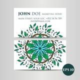elementu dekoracyjny rocznik wizytówka logo firmy wektor ilustracyjny stylu ornamentacyjny kwiecisty Orientała wzór, ilustracja I Obraz Royalty Free