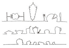 elementu rysunkowy fast food ilustracji