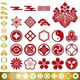 elementu tradycyjny japoński ustalony Obraz Royalty Free