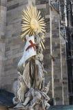 Elementy architektura są kościół St Stephen w Wiedeń w Austria Obrazy Stock