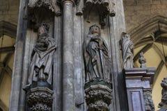 Elementy architektura są kościół St Stephen w Wiedeń w Austria Zdjęcie Stock