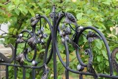 Elementy dekoracyjny kwiecisty ornament w ogrodzeniu Zdjęcia Royalty Free