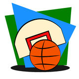 Elementy dla koszykówki Obraz Stock