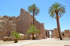 Elementy i szczegóły wnętrze Karnak świątynia w Luxor fotografia stock