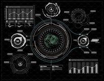 elementy infographic Głowa pokazu elementy dla app i sieci Futurystyczny interfejs użytkownika Wirtualna grafika royalty ilustracja