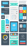 Elementy Infographics z guzikami i menu royalty ilustracja