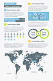 Elementy Infographics z guzikami i menu Fotografia Royalty Free
