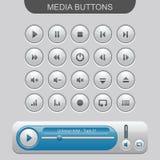 Elementy Media Player Zdjęcie Royalty Free
