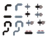 Elementy ogrzewanie, wentylacja, lotniczy uwarunkowywać, rurociąg dla wzorów, tło wizerunki Fotografia Stock