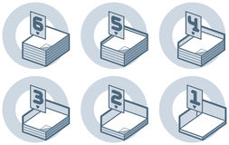 elementy projektu p 4 b ilustracja wektor