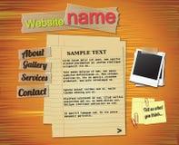 elementy projektują szablonu rocznika stronę internetową ilustracja wektor