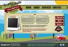 elementy projektują szablonu rocznika stronę internetową royalty ilustracja