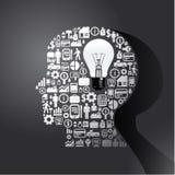 Elementy są małymi ikonami finanse robi w mężczyzna myśli royalty ilustracja