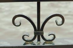 Elementy skucie, żelaza ogrodzenie Zdjęcia Stock
