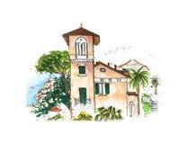 Elementy Wenecja, Włochy Malujący nakreślenie, sztuki praca Zdjęcie Stock