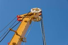 Elementy wielki mobilny budowa żurawi wierza zdjęcia royalty free