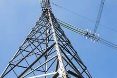 Elementy wysokonapięciowa linia energetyczna z woltażem 750.000 zdjęcie royalty free