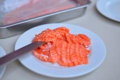 elementy zaprojektowane menu restauracji sushi łososia bardzo przydatne Obraz Royalty Free