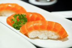 elementy zaprojektowane menu restauracji sushi łososia bardzo przydatne Zdjęcia Stock